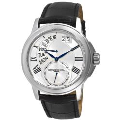 Raymond Weil Men's 'Tradition' Black Strap Day Date Watch