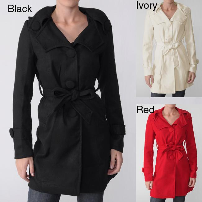Ci Sono by Adi Junior's Hooded Belted Coat