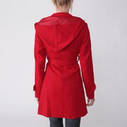 Ci Sono by Adi Junior's Hooded Belted Coat - Thumbnail 1