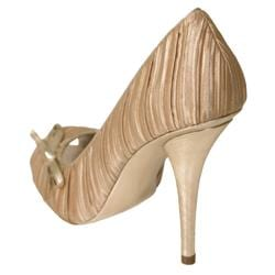 Liliana by Adi Women's 'Escada-3' Satin Peep Toe Heels - Thumbnail 1