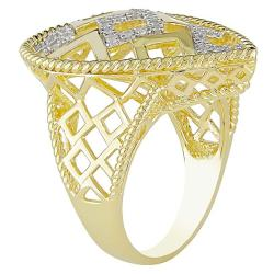 Miadora Goldtone Silver 1/4ct TDW Diamond  Ring (G-H, I2-I3)