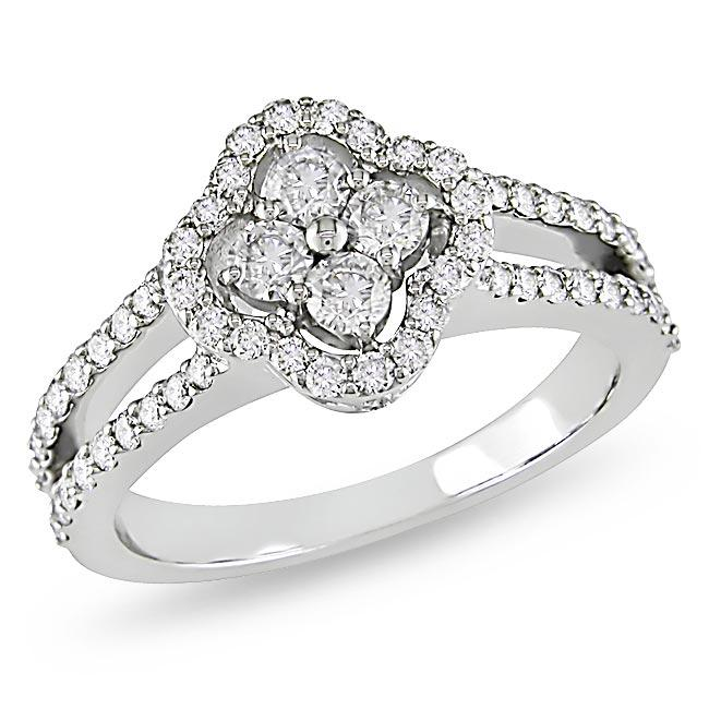 18k White Gold 4/5ct TDW Diamond Fashion Ring