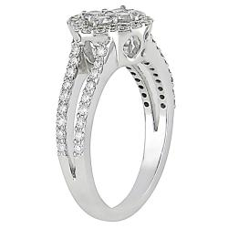 18k White Gold 4/5ct TDW Diamond Fashion Ring - Thumbnail 1