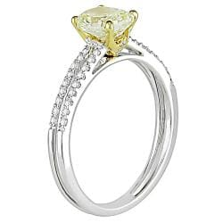 Miadora 18k Gold 1 1/5ct TDW Yellow and White Diamond Ring (G-H, VS1-VS2) - Thumbnail 1