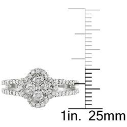 18k White Gold 4/5ct TDW Diamond Fashion Ring - Thumbnail 2