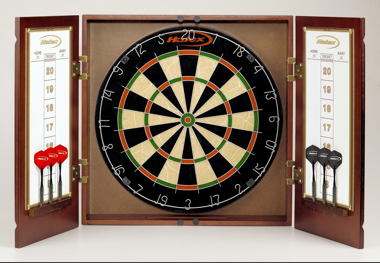 Winsford Bristle Dartboard Cabinet Set Free Shipping
