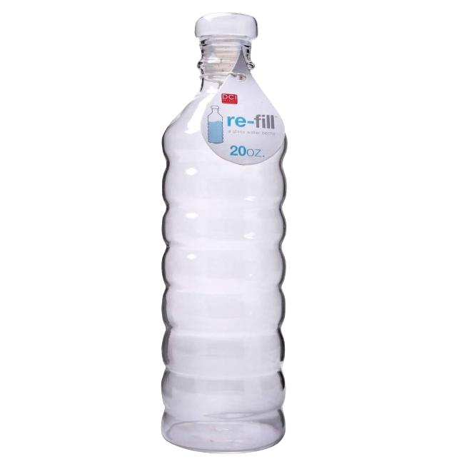 Glass Refillable Water Bottle