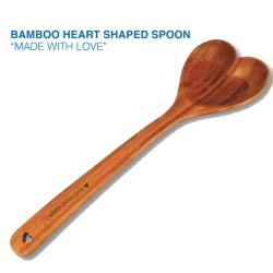 Bamboo Heart Serving Spoon