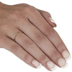 High-Polish Goldfill Twisted Ring