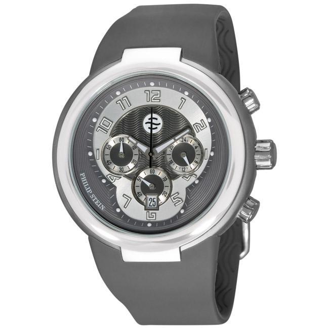 Philip Stein Men's 'Active' Grey Strap Chronograph Watch,...