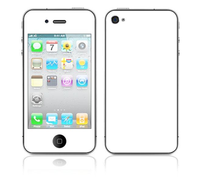 'Simply White' Apple iPhone 4 Vinyl Skin