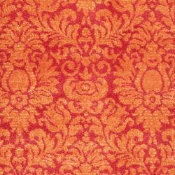 Safavieh Porcello Fine-spun Damask Red/ Rust Runner (2'4 x 6'7)