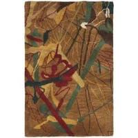 Safavieh Handmade Rodeo Drive Modern Abstract Brown Wool Rug - 2' x 3'