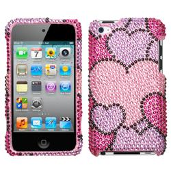 Apple Ipod Touch 4th Generation Cloudy Heart Rhinestone Protector Case