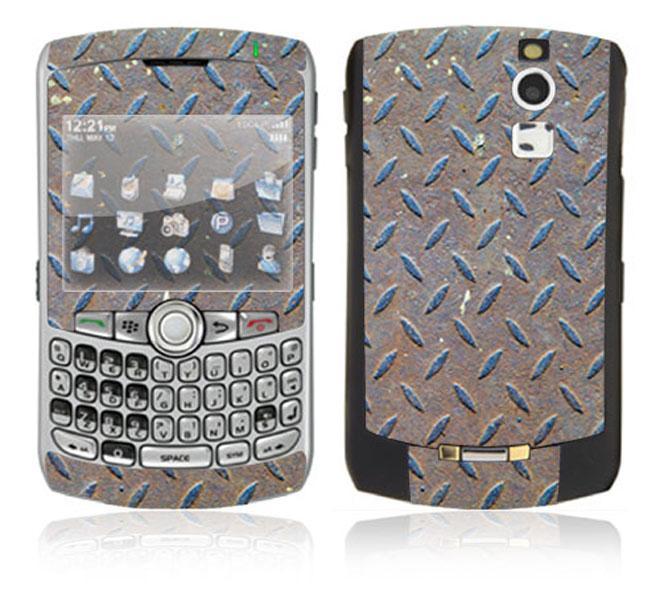 Metal Steel BlackBerry Curve 8330 Decal Skin