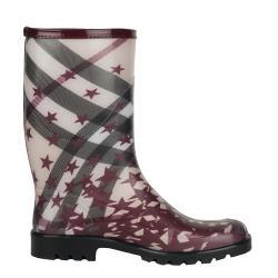Burberry Mid-calf Check and Stars Rain Boots - Thumbnail 1