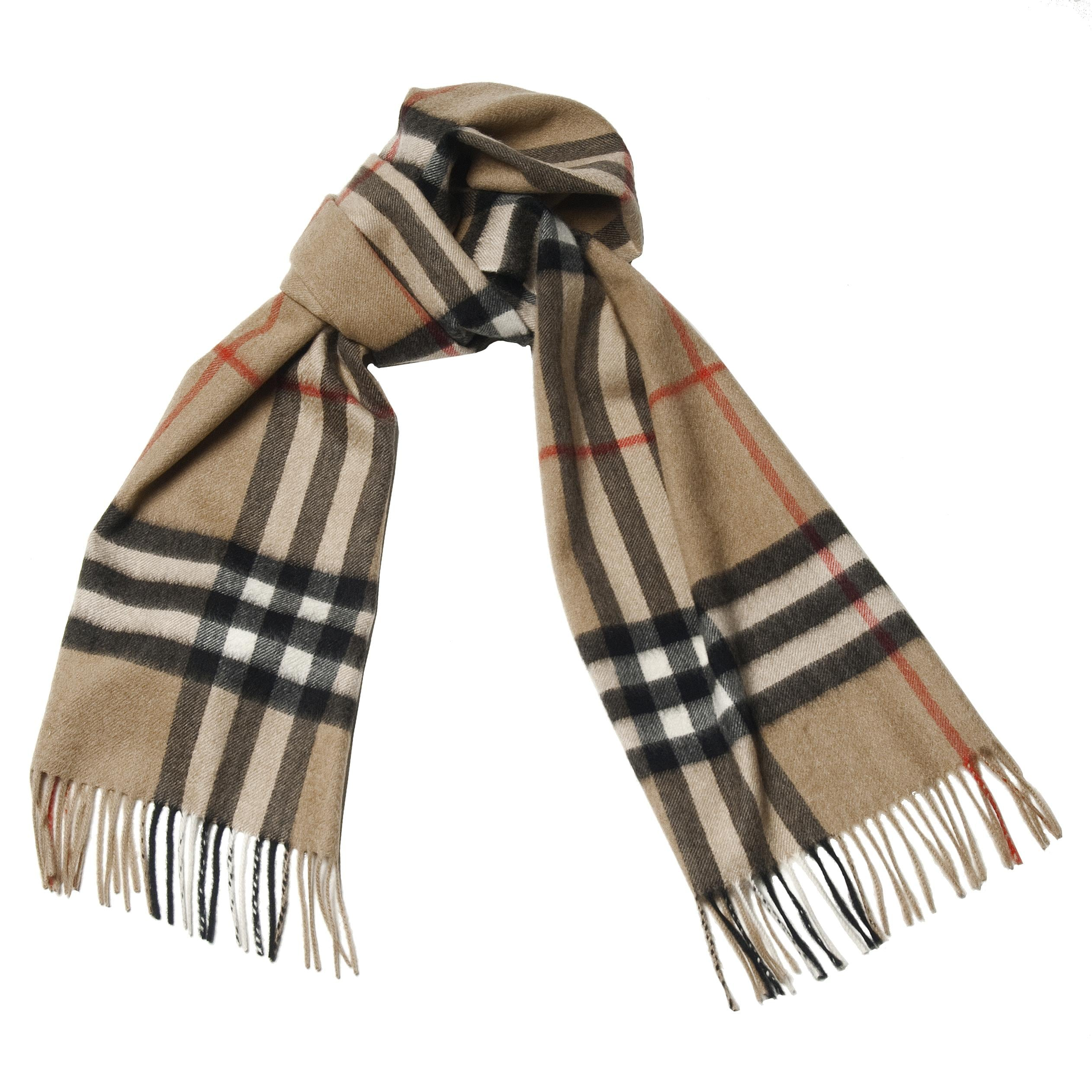 burberry scarf outlet sols  Burberry Plaid Camel Cashmere Scarf