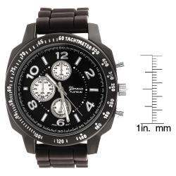 Geneva Women's 'Platinum' Chronograph-style Silicone Watch