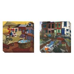 Gallery Direct Susan Webster 'Community' Set of 2 Gallery Wrapped Canvas Art Set