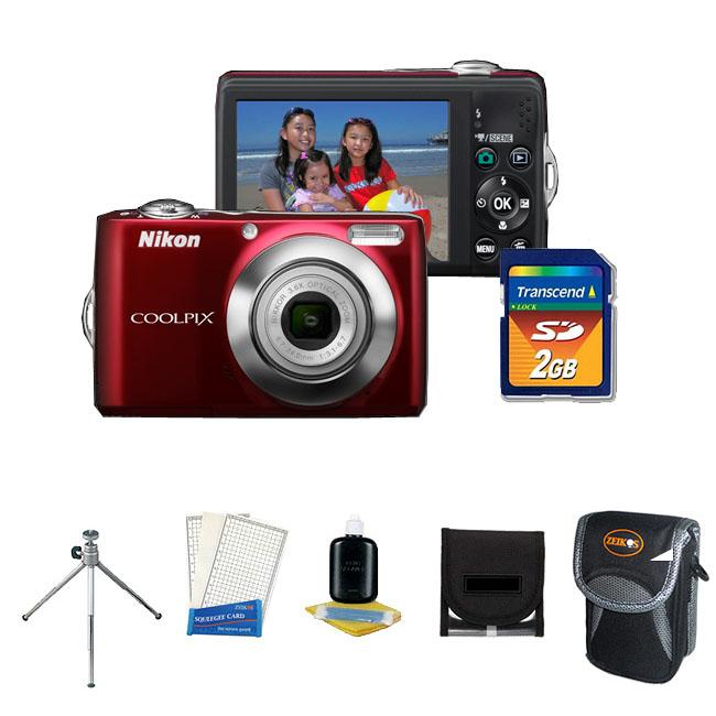 Nikon Coolpix L22 12MP Digital Camera with 2GB Kit (Refurbished) - Thumbnail 0
