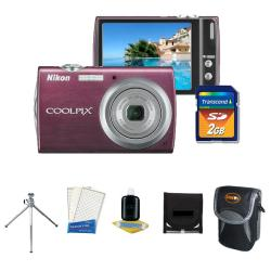 Nikon CoolPix S-230 10 MP Digital Camera with Camera Accessories Kit (Refurbished) - Thumbnail 1