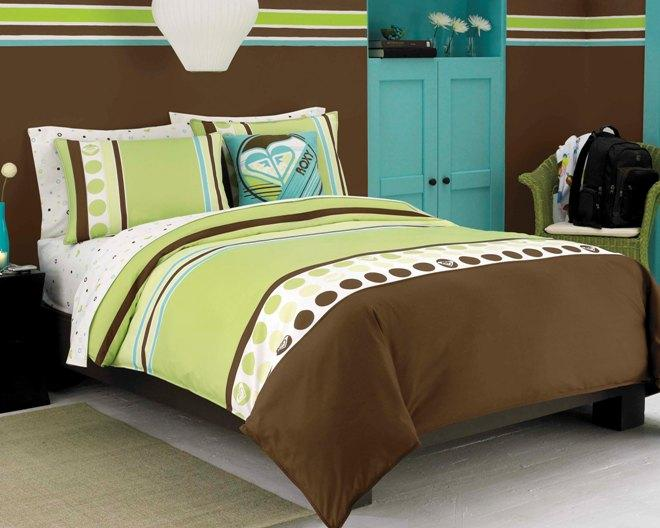Roxy Kelly Colorblock 8-piece Full-size Bed in a Bag with Sheet Set