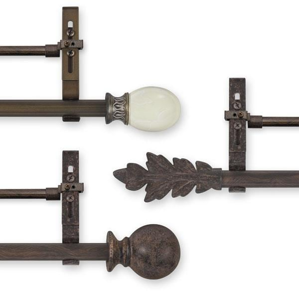 Simply Elegant 98 to 144-inch Adjustable Double Curtain Rod Set