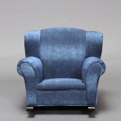 Child S Blue Denim Rocking Chair Free Shipping Today