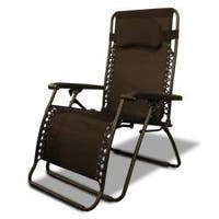 Caravan Sports Dark Brown Oversized Zero-Gravity Chair