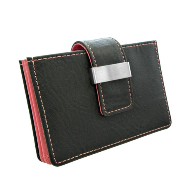 Wilouby Rosy Leather Credit Card Holder
