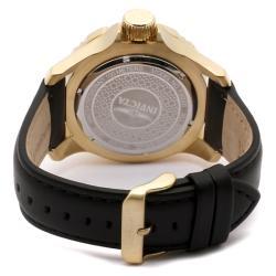 Invicta Men's Pro Diver Black Dial Black Leather GMT Watch