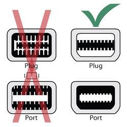 White Mini Display Port to VGA Male/ Female Adapter
