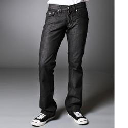 Laguna Beach Jean Company Men's Manhattan Beach Straight Leg Black Jeans - Thumbnail 1