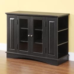Black Highboy 42 Inch Wood Tv Stand Free Shipping Today