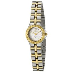 Invicta Women's 0136 Wildflower White Dial Two-tone Watch|https://ak1.ostkcdn.com/images/products/72/904/P13261305.jpg?impolicy=medium