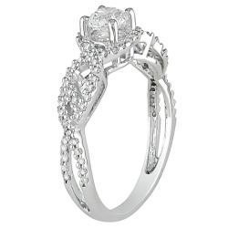 14k White Gold 3/4ct TDW Diamond  Ring (G-H, I2-I3) - Thumbnail 1