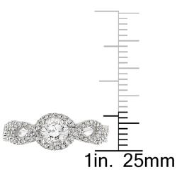 14k White Gold 3/4ct TDW Diamond  Ring (G-H, I2-I3) - Thumbnail 2