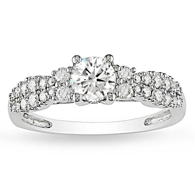 14k White Gold 4/5ct TDW Diamond  Ring (G-H, I2-I3)