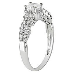 14k White Gold 4/5ct TDW Diamond  Ring (G-H, I2-I3) - Thumbnail 1