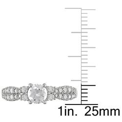 14k White Gold 4/5ct TDW Diamond  Ring (G-H, I2-I3) - Thumbnail 2
