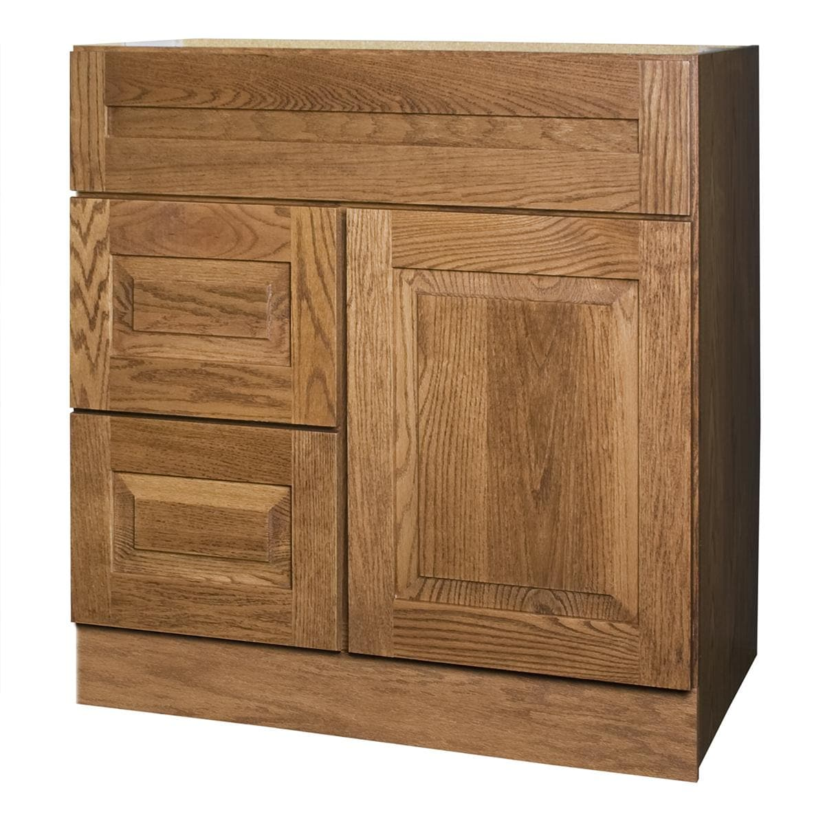 Amalfi series 30x18 inch vanity base with left side - Bathroom vanity with drawers on left ...