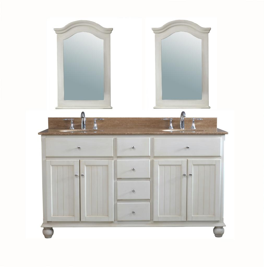 Gemini 62 inch traditional double sink bathroom vanity set - 50 inch double sink bathroom vanity ...