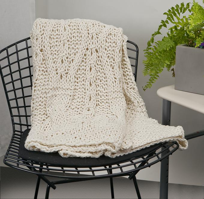 Cable Handknit Throw