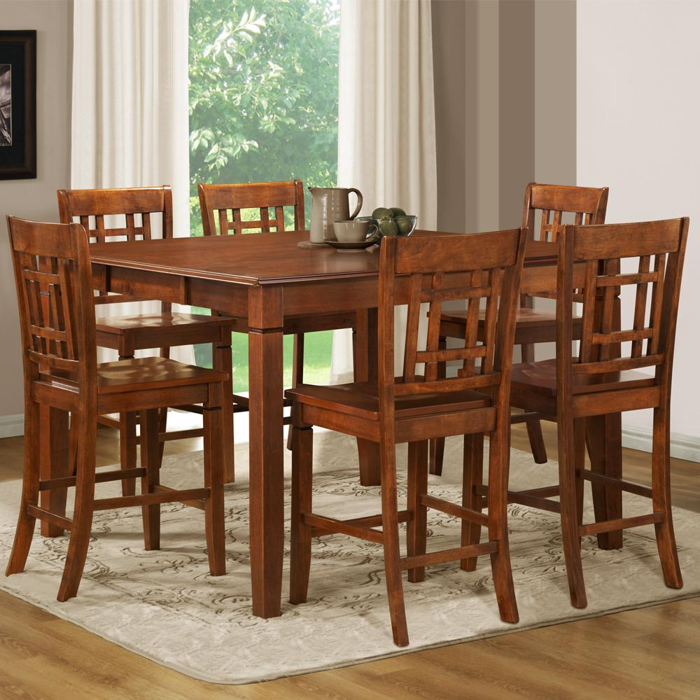 Pub Height Kitchen Table Sets Athens 7 Piece Counter Height Dining Table Set Free Shipping