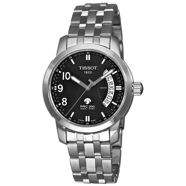 c67c9ae63 Shop Tissot Men's 'T-Sport PRC 200' Black Face Autoquartz Watch - Free  Shipping Today - Overstock - 5479610