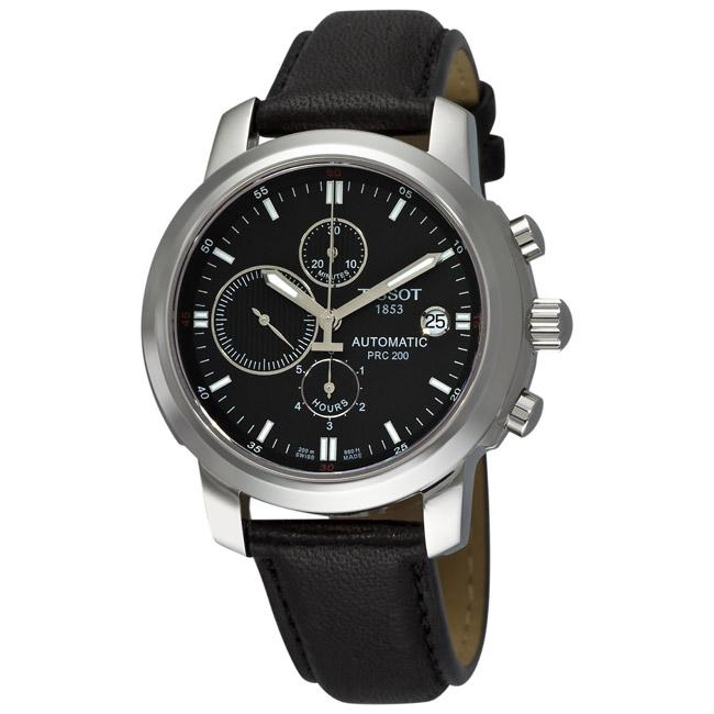 8b2638ff8 Shop Tissot Men's 'T-Sport PRC 200' Black Strap Automatic Chronograph Watch  - Free Shipping Today - Overstock - 5479616