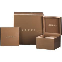 Gucci Men's 'G-Timeless' Black PVD Brown Rubber Strap Watch - Thumbnail 2