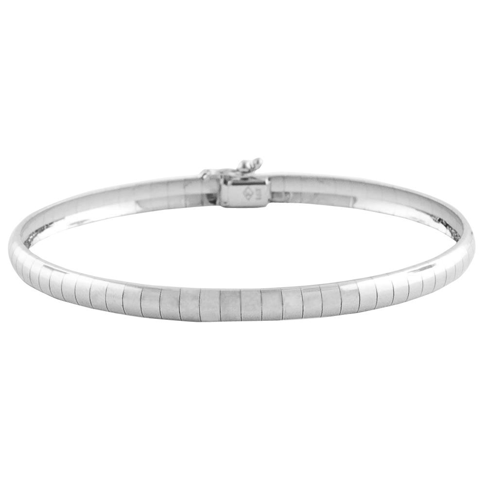 8881d9a06 Shop Fremada 14k White Gold 7-inch Dome Omega Bracelet - Free Shipping  Today - Overstock - 5479735