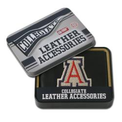 Arizona Wildcats Men's Black Leather Bi-fold Wallet