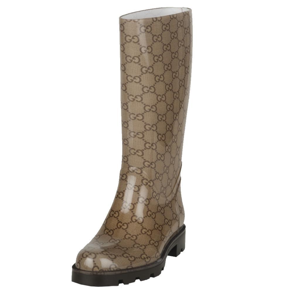 8515e5d310b Shop Gucci Women s Logo Rain Boots - Free Shipping Today - Overstock -  5482314